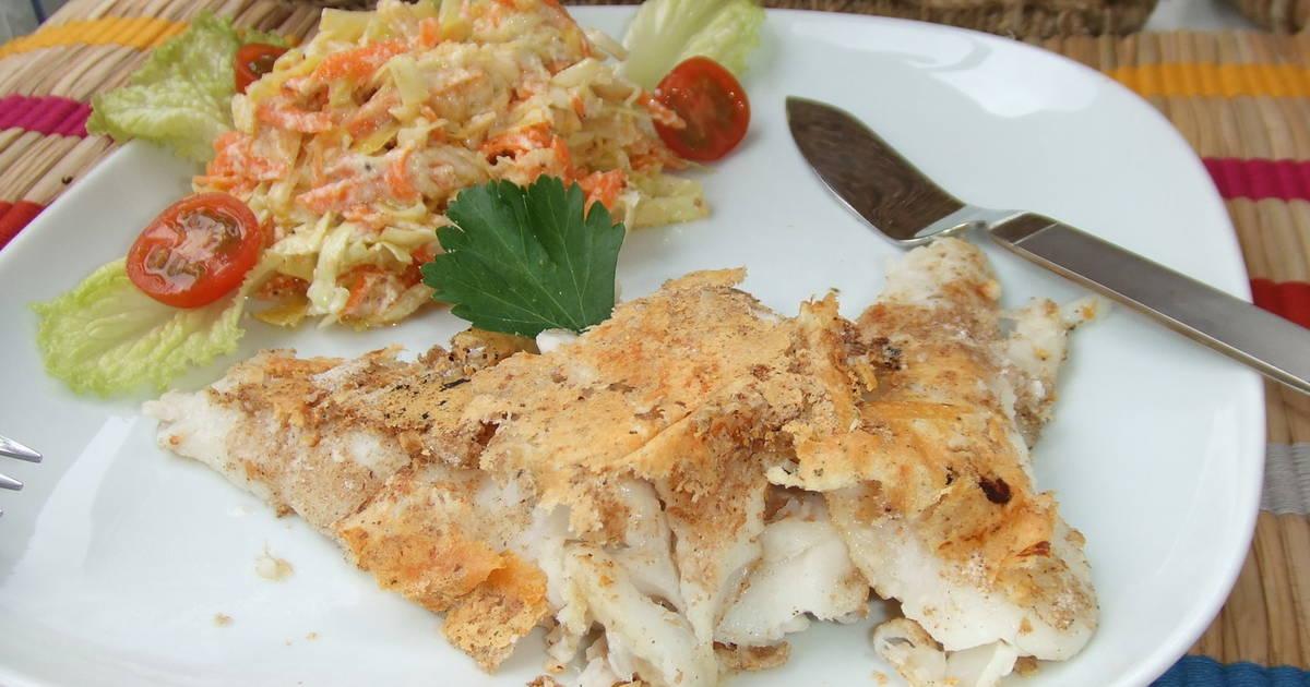 Filetes de merluza con queso fresco